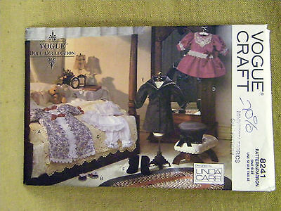 """Vogue Doll Pattern 8241 417 18/"""" Girl Clothes Victorian Vintage by Linda Carr"""