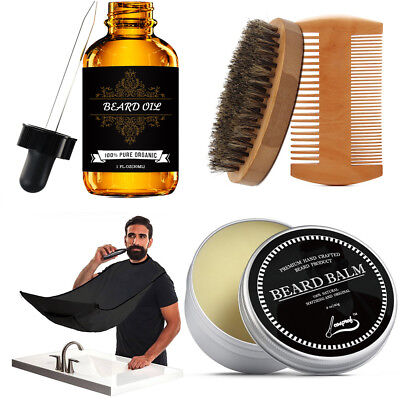 Beard Grooming & Trimming Kit for Men Care - Beard Oil & Balm,Beard Comb & Brush