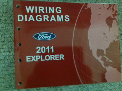 2011 ford explorer suv truck electrical wiring diagram service shop manual  oem