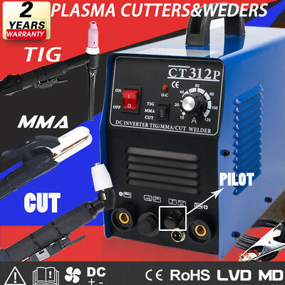 3IN1 steel Plasma Cutters Welding Machine Pilot TIG / MMA Machine Digital Welder