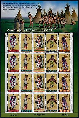20 AMERICAN INDIAN DANCES Stamps: Traditional Hoop Fancy Butterfly Raven Dancers