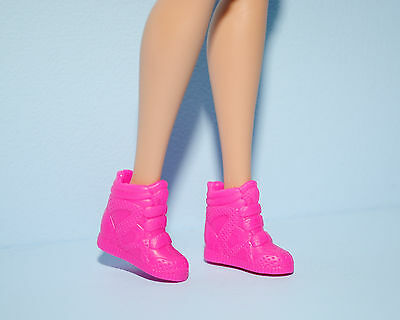 Hot Pink High Top Athletic Tennis Sports Shoes Genuine BARBIE Fashion Accessory