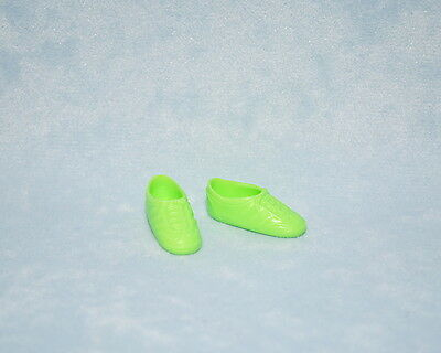 ATHLETIC Bright Green Faux Lace Up Tennis Shoes Genuine BARBIE Shoes