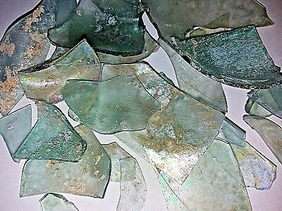 Lot Roman Glass Ancient Fragments Patina Caesarea Maritima  Israel 54g