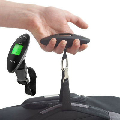90lb Portable Electronic Digital Luggage Scale in Black