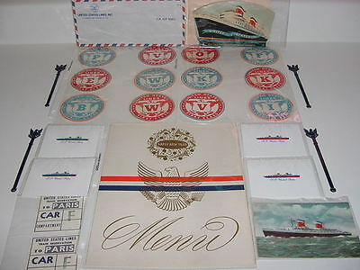 SS UNITED STATES LINES (27) Various Collectibles........All New/Old Stock Items
