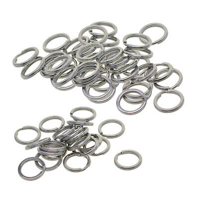 20/50x Steel Keyring Split Key Rings 15mm Nickel Plated Hoop Ring Steel Loop