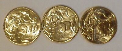2019 35th anniversary RAM set of three $1 privy mintmark A U S coins from bag