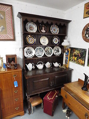 Antique Large Solid Oak Welsh Dresser