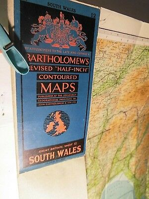South Wales:1952: Bartholomews Survey:collieries, British Railways,ports, Hills
