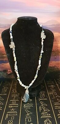 Egyptian amulet glass beaded Necklace