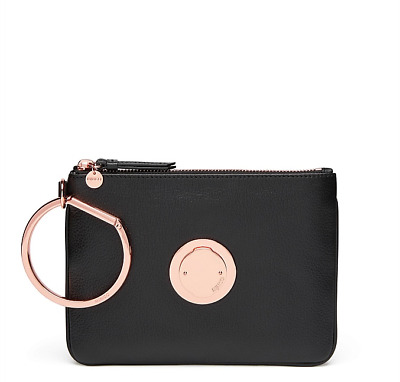 Mimco BLACK MODIFY MEDIUM POUCH Rose Gold button Authentic Newwithtag RRP149