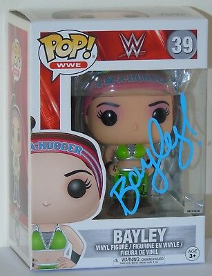 Wwe Pop Vinyl Bayley Signed Funko Figure Free Protector