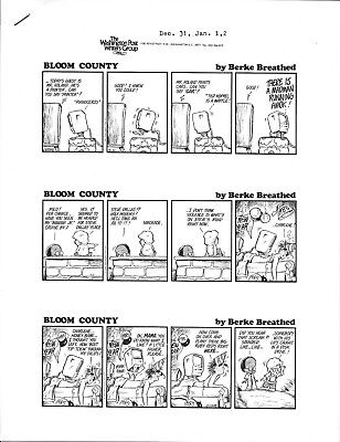 Bloom County Berkeley Breathed Opus 1984 Original Comic Page Camera Ready Art