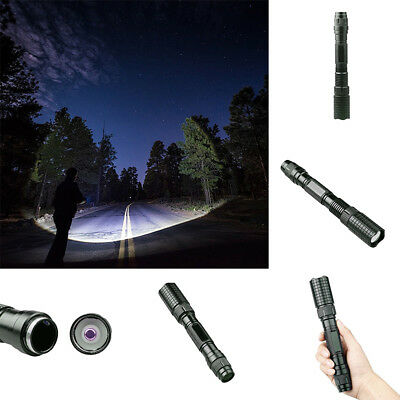 Tactical Police 90000Lumens T6 5Modes LED Flashlight Aluminum Torch Zoomable SD