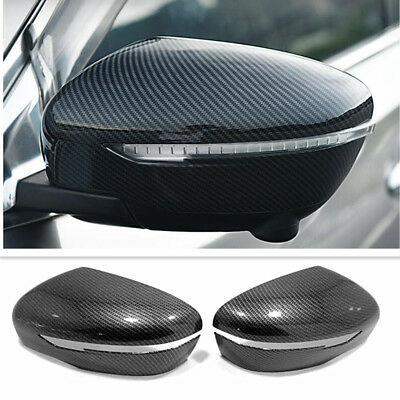 For Nissan Rogue Sport 17-18 Carbon Fiber Style Side Mirrors Rearview Trim Cover