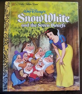 Snow White And The Seven Dwarfs Little Golden Book Excellent Condition
