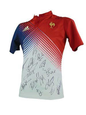 Signed France Rugby Shirt, Six Nations - Fully Autographed + *certificate*