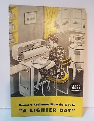 VTG Kenmore Appliances, Sears and Roebuck Advertising and Guide Booklet 1946