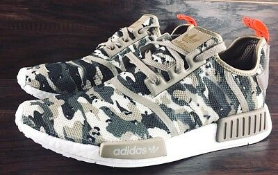 8e88a6c8f92ba Adidas Originals Nmd R1 Camo Boost Shoes G27915 New Mens Brown Green Solar  Red