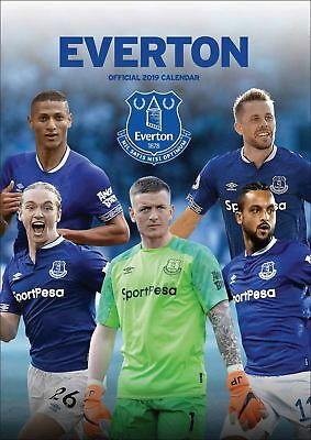 Everton Official 2019 Wall Calendar A3 New & Sealed