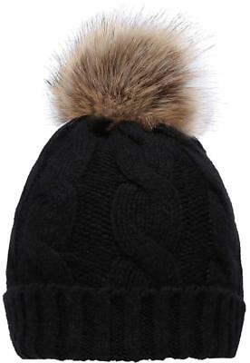 245779672 WINTER WARM KNITTED Soft Faux Fur Double Pom Pom Beanie Hat with ...