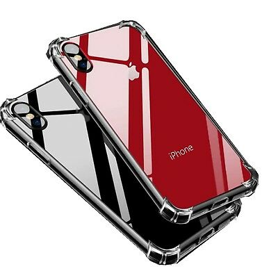 Hybrid Shockproof Thin Clear TPU Bumper Case Fits iPhone X 6 7 8 Plus XR XS MAX