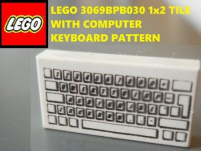 1x LEGO 1x2 TILE WITH SW COMPUTER PATTERN P//N 3069bps1 C019
