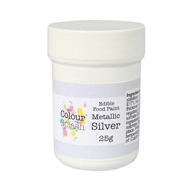 Culpitt Colour Splash Edible Silver Metallic Paint 25g DISCOUNT ON MULTIPLES
