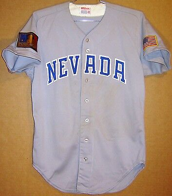 cheap for discount c06fc 83a1e NEVADA WOLFPACK AT RENO #16 GAME Grey WORN ROAD COLLEGE ...