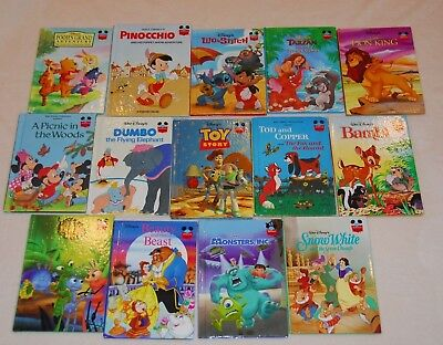 Disney Wonderful World of Reading Lot of 14 Some Vintage