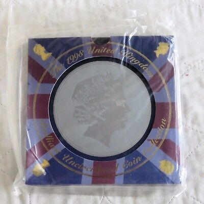 1998 ROYAL MINT UK BRILLIANT UNCIRCULATED 9 COIN SET WITH £1 - still mint sealed