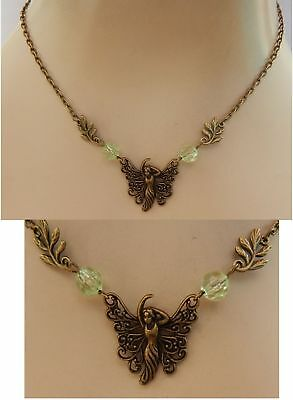 Fairy Necklace Gold Pendant Jewelry Handmade NEW Chain Women Fantasy Accessories