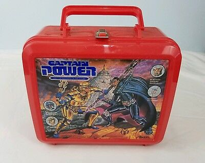 Captain Power 1987 Aladdin Lunchbox w/Thermos