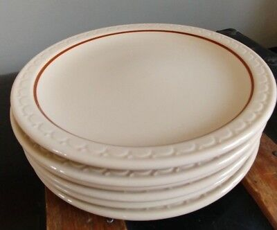 Lot of 6: Syracuse China Econo Rim Dinner Plate Vintage Restaurant Ware