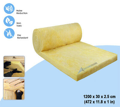 Arrowzoom Mineral Wool Loft Thermal Sound Insulation Acoustic Roll 12 Meter