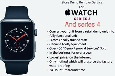 Apple Watch Demo Mode Removal For Series 3 And Series 4 Watch