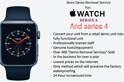 Apple Watch Demo Mode Removal / Restore For Series 3 And Series 4 Apple Watches