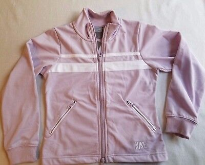 NWT Nike Girls Zip Jacket Size Small (7-8) Purple White Kids Athletic 216d639a9