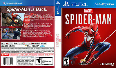 Marvel Spider-Man (Playstation 4 Ps4) Replacement Case, No Game