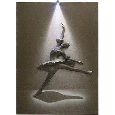 Steepletone Monochrome 3D Picture with LED Art - BALLERINA  **BUY 2 GET 1 FREE**