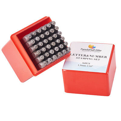 36x Metal Letter & Number Punch Stamping Tools for Jewelry Leather Marking