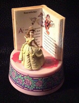 Schmid Disney Beauty & the Beast storybook music plastic figurine