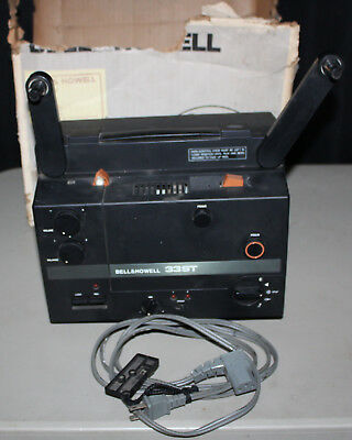 Bell & Howell Model 33ST Super 8 Sound Movie Film Projector w Box Needs Bulb