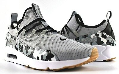 0ad262a594 Nike Air Max 90 Ez Casual Shoes Ao1745-006 Camo Wolf Grey White New Mens