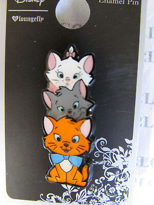 Disney Loungefly The Aristocats Marie Toulouse & Berlioz Totem Pole Enamel Pin