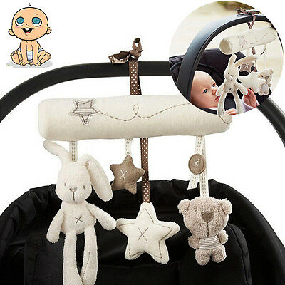 New Bunny Baby Infant Activity Musical Toy Rattle Crib Stroller Pram Cars Seats