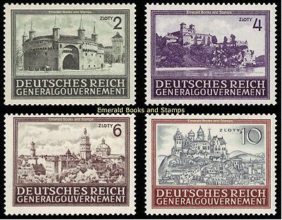 EBS Generalgouvernement 1943 Buildings in Occupied Poland Michel 113-116 MNH**