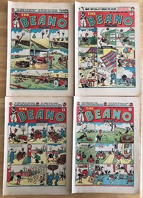 THE BEANO COMIC 1947 x 4 issues October 4th to November 18th FINE collection