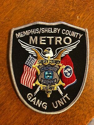 Memphis Tennessee Gang Unit Police Department Police Sheriff Patch